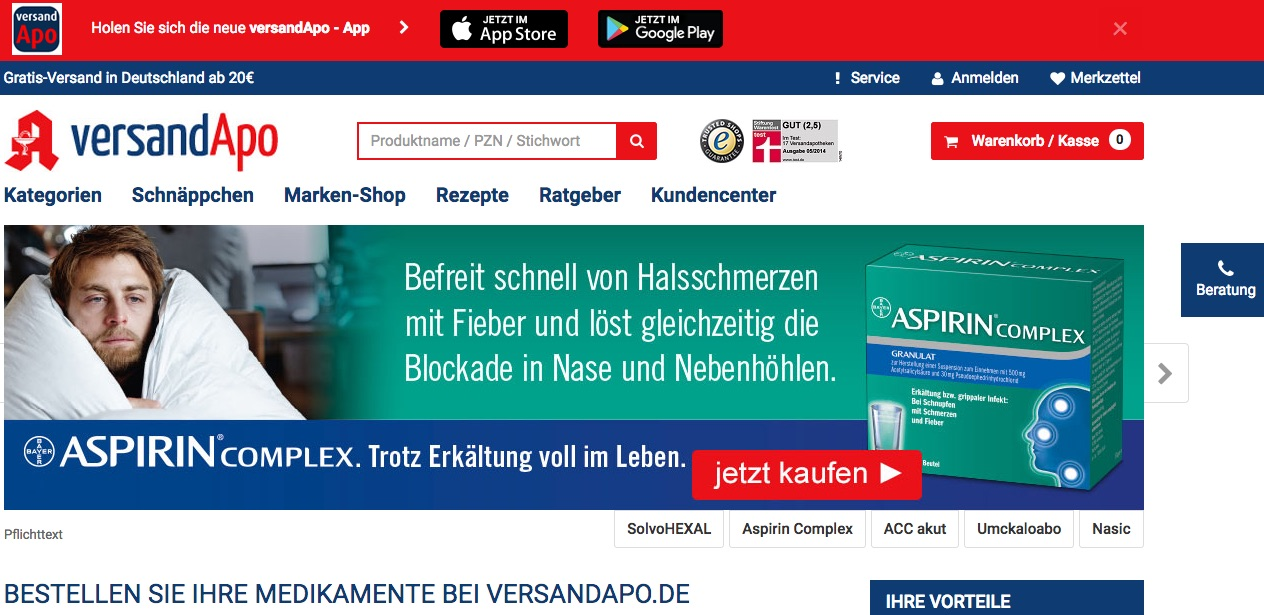 Jetzt zu www.versandapo.de