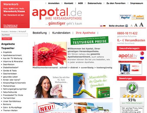 Apotal Versandapotheke | shop.apotal.de | www.apotal.de