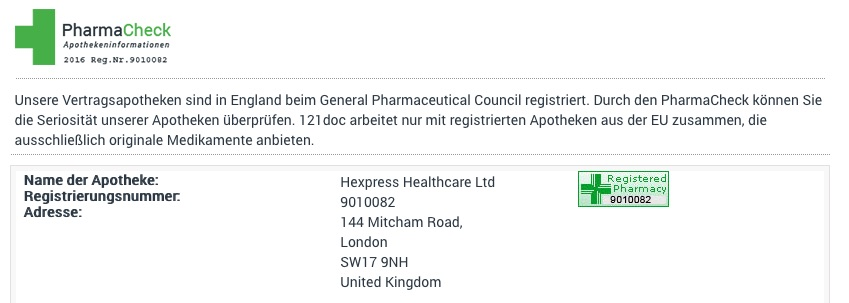 121doc General Pharmaceutical Council