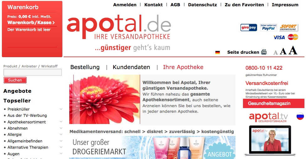 zu www.apotal.de